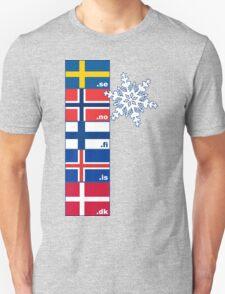 Nordic Cross Flags T-Shirt