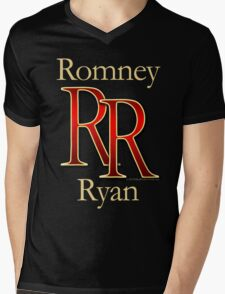 RR Romney Ryan Luxury Look T-Shirt Mens V-Neck T-Shirt