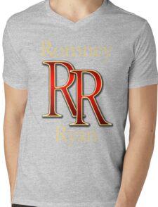 RR Romney Ryan Luxury Look T-Shirt Mens V-Neck T-Shirt
