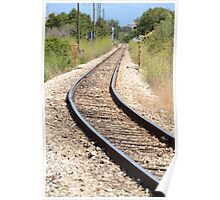 On The Right Tracks Poster