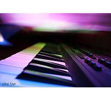 Musique (light art photography) Photographic Print