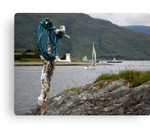Yacht on loch linhie Canvas Print