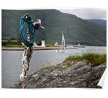 Yacht on loch linhie Poster