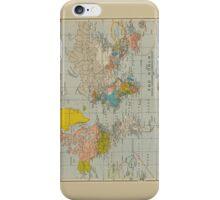 Vintage World Map 1910 iPhone Case/Skin