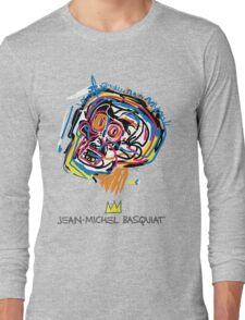 Jean Michel Basquiat Head Long Sleeve T-Shirt