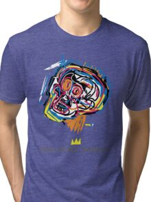 Jean Michel Basquiat Head Tri-blend T-Shirt