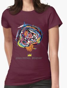 Jean Michel Basquiat Head Womens Fitted T-Shirt