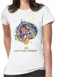 Jean Michel Basquiat Head Womens Fitted T-Shirt