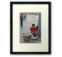 Trying to make a rupee... Framed Print