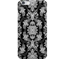 Back & White Vintage Floral Baroque Design iPhone Case/Skin