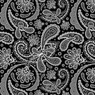 Black & White Elegant Vintage Paisley Design by artonwear
