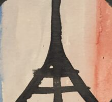 Paris Peace Symbol Eiffel Tower French Tricolor Sticker