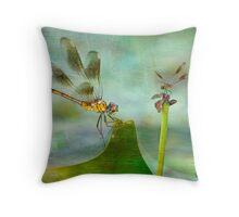 Dragonfly Fantasy Throw Pillow