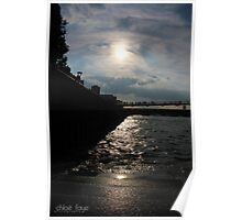 Sunset over the Thames River Poster