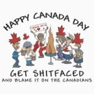 Funny Canada Day Drinking T-Shirt by HolidayT-Shirts