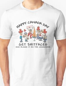 Funny Canada Day Drinking T-Shirt T-Shirt