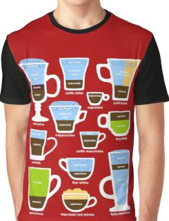 Espresso Coffee Drinks Guide Graphic T-Shirt