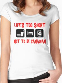 Funny  Canadian T-Shirt Women's Fitted Scoop T-Shirt
