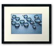 Blue Drops Framed Print