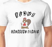 "Funny Canadian ""I Love Canadian Beaver"" T-Shirt Unisex T-Shirt"