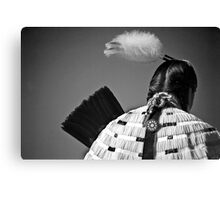 Back Feather Canvas Print