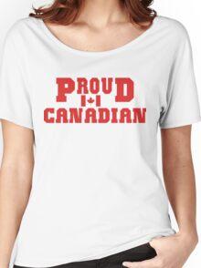 Proud Canadian T-Shirt Women's Relaxed Fit T-Shirt
