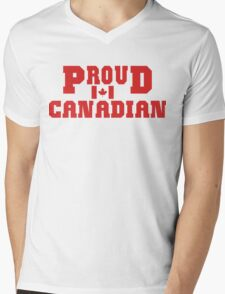 Proud Canadian T-Shirt Mens V-Neck T-Shirt