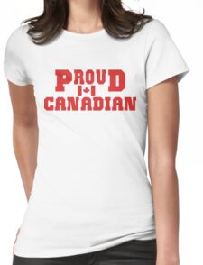 Proud Canadian T-Shirt Womens Fitted T-Shirt