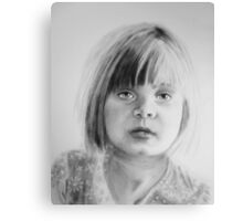 Charlotte, oil dry brush portrait Canvas Print
