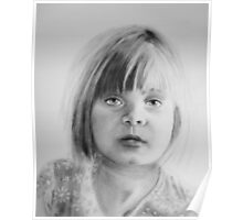 Charlotte, oil dry brush portrait Poster