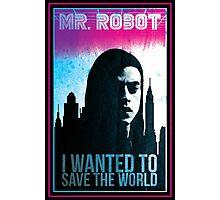 Mr. Robot retro Photographic Print