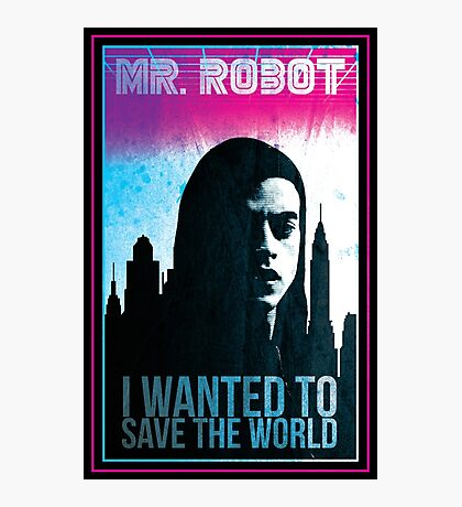 Mr. Robot retro Photographic Print