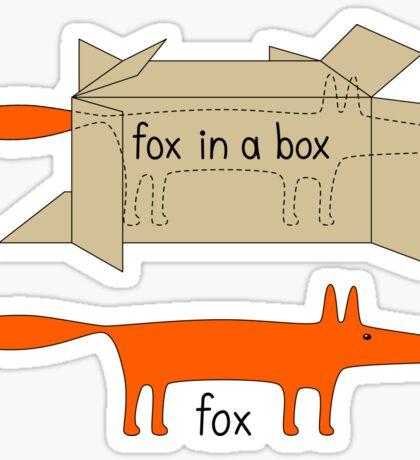 Fox in a Box Sticker