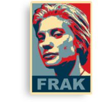Starbuck: Frak (Battlestar Galactica) Canvas Print