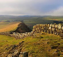 Hadrian's Wall on Cawfields Crag - c4 by Joan Thirlaway