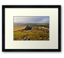 Hadrian's Wall on Cawfields Crag - c4 Framed Print