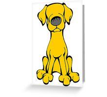 Lab - Yellow Greeting Card