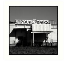 Umpqua Dairy Art Print