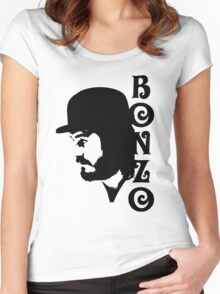 SOLID BLACK BONZO Women's Fitted Scoop T-Shirt