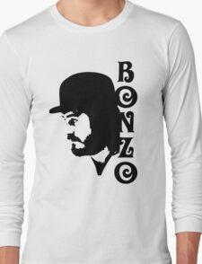 SOLID BLACK BONZO Long Sleeve T-Shirt