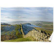 Hadrian's Wall crosses Bogle Hole Poster