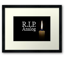 candle and R.I.P. analog Framed Print