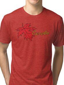 Canada Maple Leaf T-Shirt Tri-blend T-Shirt