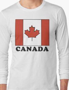 Canada Flag T-Shirt Canadian Flag T-Shirt Long Sleeve T-Shirt