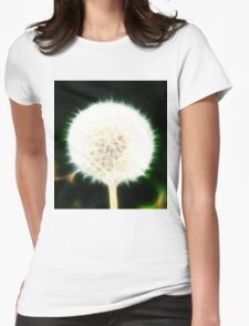 Fractal Dandelion  Womens Fitted T-Shirt