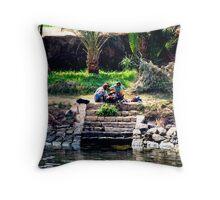 Nile Riverbank Throw Pillow