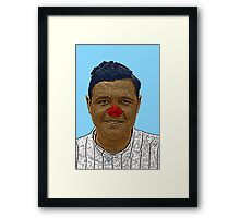 Babe Ruth Culture Cloth Zinc Collection Framed Print