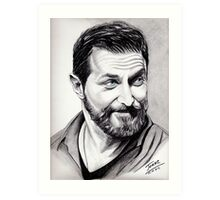 Richard Armitage, shining Art Print