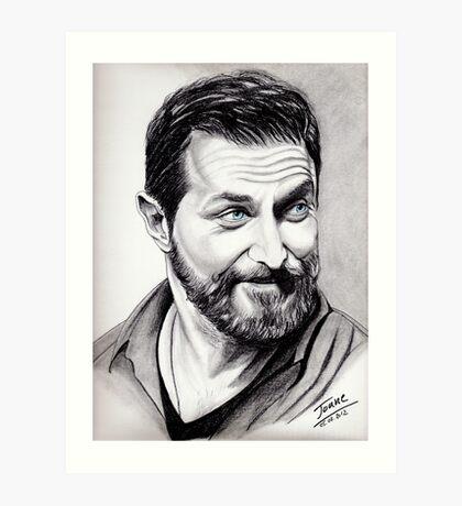 Richard Armitage, shining Art Print