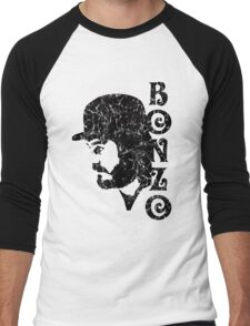 DISTRESSED BLACK BONZO Men's Baseball ¾ T-Shirt